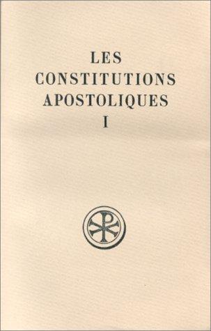 Constitutions apostoliques, tome 1