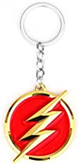 Ginie'sWishKart Keyring Movie The Flash Lightning Sign Keychain Free Size in Gold Color for Unisex