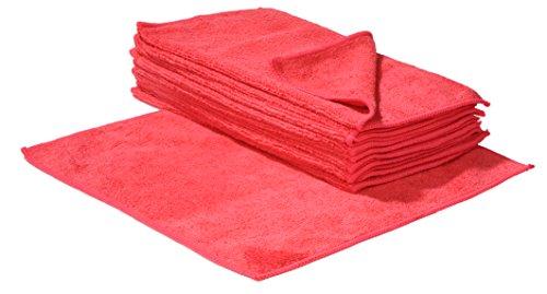 Mikrofaser Reinigungstücher rot 30 x 30cm 10 Stück