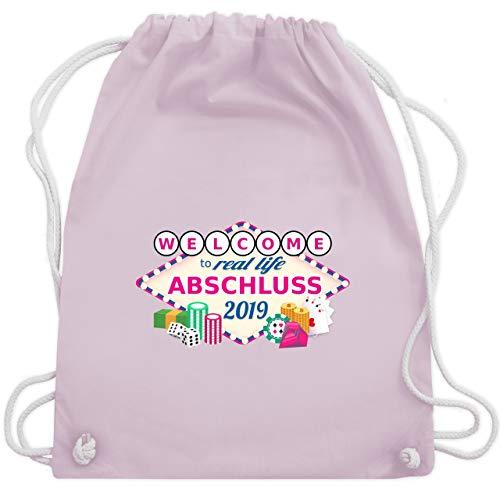 Abi & Abschluss - Abschluss 2019 - Welcome to real life - Unisize - Pastell Rosa - WM110 - Turnbeutel & Gym Bag