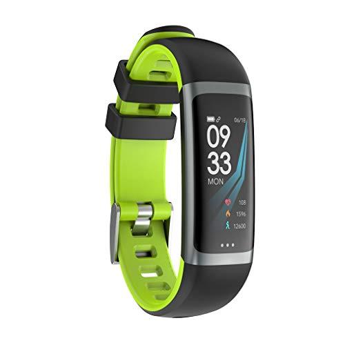 Muium G26s Smart Watch Sport Fitness Aktivität Herzfrequenz Tracker Blutdruck Uhr mit Schlafmonitor Schrittzähler Kalorienzähler für Kinder Damen Herrn (Grün- Bildschirm Anders(G26))