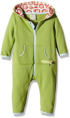 loud + proud Unisex Baby Strampler Overall Sweat, Gr. 80 (Herstellergröße: 74/80), Grün (Moos mo)