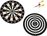 #9: Multi Color Double Sided Dart Board 12 inches by Forever Online Shopping