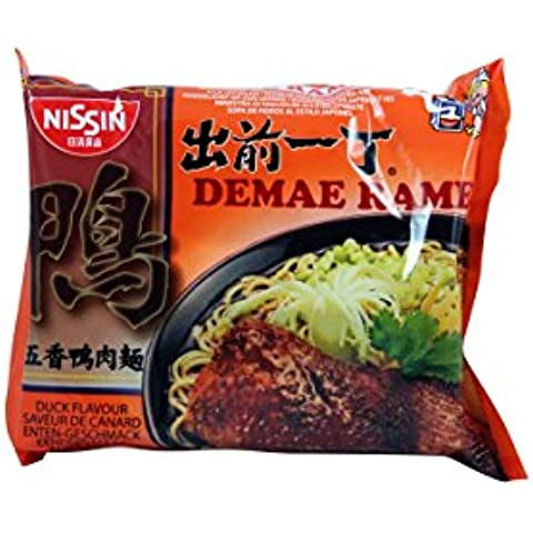 Nissin Demae Ramen giapponese Noodle Soup, Anatra Sapore - 100g