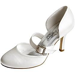 Perfect Bridal Sasha, Damen Brautschuhe , weiß - elfenbeinfarben - Größe: 40