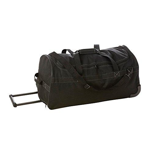 Sac de sport à roulettes de couleur Noir/Noir 70 x 33 x 31 cm- Visiodirect -