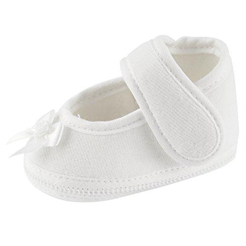 Toma Festlicher Babyschuhe Schuh Taufe Hochzeit Taufschuhe Jungen Mädchen Baby Weiße Rose Vorn Größe 10cm