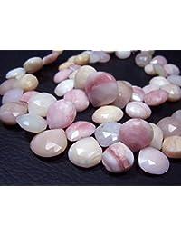 cd125662b77d Earth Gems Park Super Fine Quality Gems Jewelry Peru AA Pink Opal Faceted  Heart Briolette-
