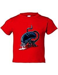 Camiseta niño Chibi Kawaii Alien el Octavo Pasajero parodia Nikochan