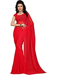 Sarees (Women's Clothing Chiffon Sarees For Women Latest Color Sarees Collection In Latest Sarees With Designer...