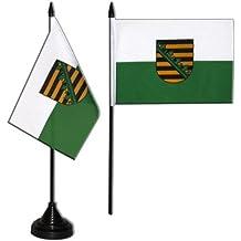 Tischflagge / Tischfahne Sachsen + gratis Aufkleber, Flaggenfritze®