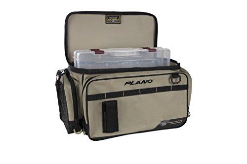Plano PLAB37111 Weekend Series Angelkoffer 3700 Größe, Unisex-Erwachsene, Weekend Series 3700 Size Tackle Case, w/ 2-3700's, Tan, hautfarben, Einheitsgröße -