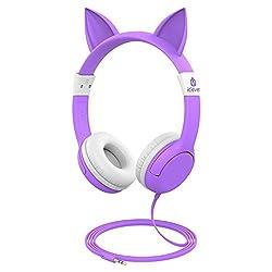 iClever Boostcare Kids Headphone - Ein schöner und sicherer Kopfhörer für die Kleinen iClever Boostcare Kinderkopfhörer Ausgestattet mit RoHs, EN71, CPSIA, FCC-zugelassenem Lebensmittelmaterial, fettem Audiokabel sowie einer 85 Volume limitierten Tec...