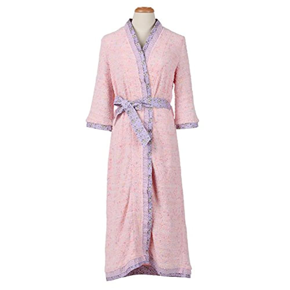 Loungeable Designer Damen Gepunktet Bademantel Kragen Lang oder Shorts Robe