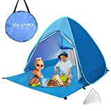 Camonti Tente de Plage, Pop Up Tente Camping Anti UV Léger Imperméable Automatique...