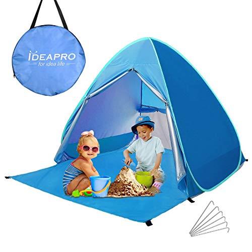 Camonti Tente de Plage, Pop Up Tente Camping Anti UV Léger Imperméable Automatique Abris de Plage...