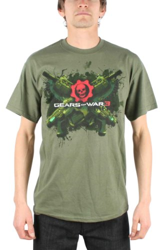 Gears of War - Top - Uomo Verde militare Small