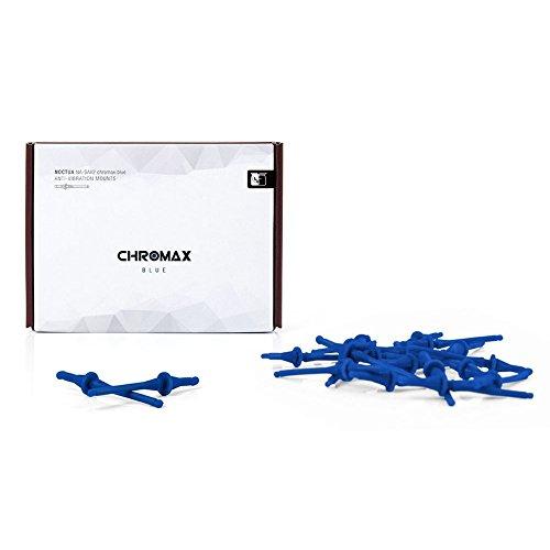 Noctua NA-SAV2 chromax.blue Anti-VibrationsBefestigungen für Lüfter, Blau, 20 Stück