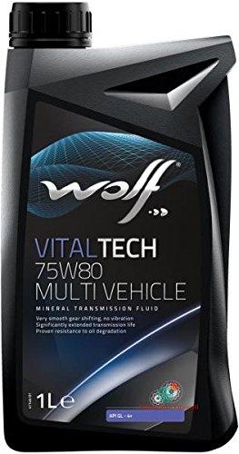 WOLF Olio Cambio/differenziale 1 Litro VITALTECH 75W80 MULTIVEHICLE (Mustang Differenziale)