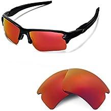 walleva lentes de repuesto para Oakley Flak 2.0XL gafas de sol–21opciones disponibles, Talla única, rojo (Fire Red Mirror Coated - Polarized)