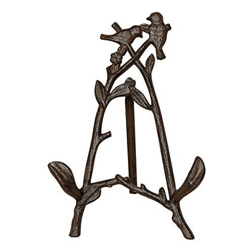 Antik Braun Baum Vogel Tischplatte Gusseisen zusammenklappbar Malerei Kunst Staffelei Ständer