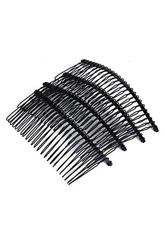 YOIL schwarz 20Z Metall Kamm Slide Pin für Haar Styling (Metall-styling-kamm)