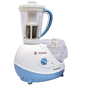 Singer Foodista Plus 600 Watts Food Processor with 14 Stainless Steel Attachments