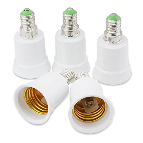 Preisvergleich Produktbild PsmGoods 5PCS E14 zu E27 Socket Konverter Glühlampe-Lampen-Einfaßungs-Adapter Enlarger Fassung (E14 TO E27)