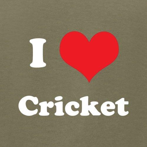 I Love Cricket - Herren T-Shirt - 13 Farben Khaki
