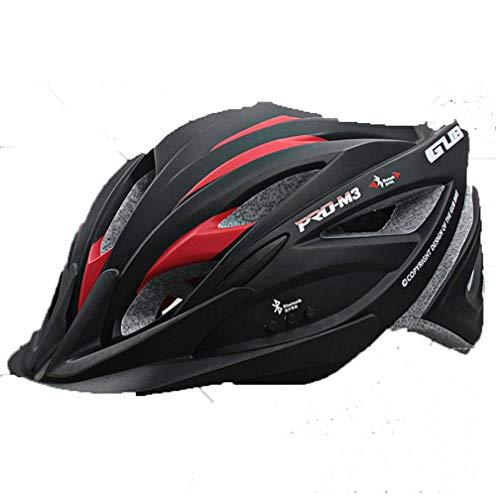 LY-YY Fahrradhelm Herren Smart-Bluetooth-Headset, Sporthelm, Ultraleicht, einteilig (schwarz)