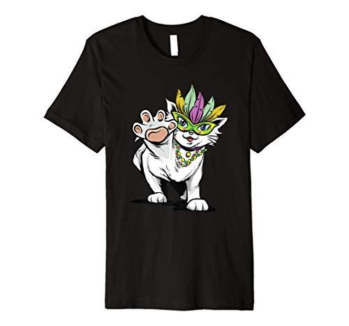 Mardi Gras Katze Cat T-Shirt