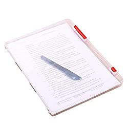 Red : Hunpta A4 Transparent Storage Box Clear Plastic Document Paper Filling Case File (Red)
