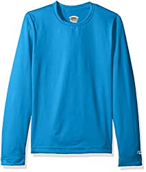 Duofold Big Girls Mid Weight Varitherm Thermal Shirt Underwater Blue X-Large