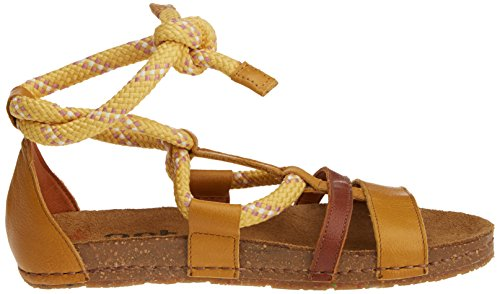 Art Ladies 0456 Sandali Memphis Creta Con Plateau Giallo (sole)