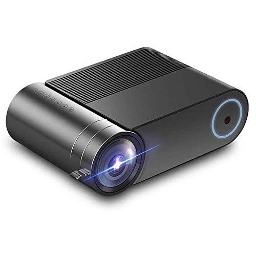 Leistungsstarker 1080p-Heimkinoprojektor, 3D-Unterstützung, 3000 Lumen, 12000 Lampenlebensdauer, Geeignet für Filme im Innen- und Außenbereich, schwarz