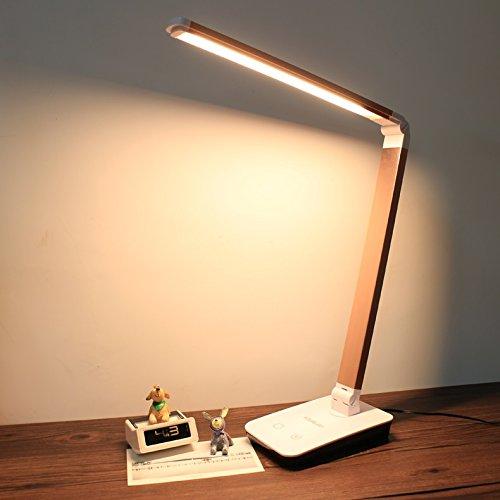Tischlampe Schreibtischlampe Lampe Ultra-helle Augen-Lampe kann dimmable LED-Lernen-Schutzbrillen sein Gelbe lange Arm-faltende Schreibtisch-Stecker-Lesen und Schreiben (farbe : Gold)