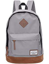 94244656c87c Classical School Bag - OSZZAK Unisex Basic Daily Waterproof Rucksack  Backpack for Student Children Travel Teenager