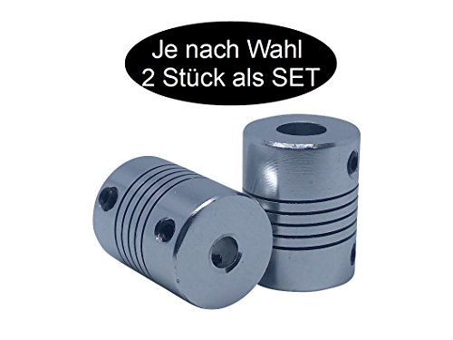 2 x flexible Wellenkupplung je nach wahl (5mm x 5mm - 2 pieces)