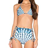 Produp Fashion Damen Shell Print Split Badeanzug Sexy Zweiteiliger Badeanzug Badeanzug Bikini Komfortable Lässige Sweatshirt