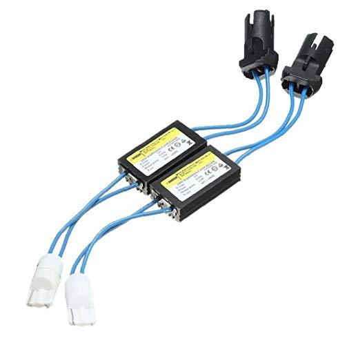 17.5cm T10 W5W LED-Warn Canceller/Decoder 2 PC 2ST-geführte Warnung Canceller Widerstand T10 Begrenzungsleuchte Decoder Led Decoder Anti Flicker-Auto-Licht