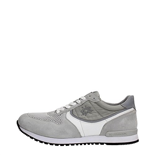 La Martina Shoes L1080202 Sneakers Uomo Scamosciato Grey Grey 42