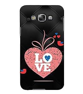 Fuson Designer Back Case Cover for Samsung Galaxy E7 (2015) :: Samsung Galaxy E7 Duos :: Samsung Galaxy E7 E7000 E7009 E700F E700F/Ds E700H E700H/Dd E700H/Ds E700M E700M/Ds (Love bird theme)