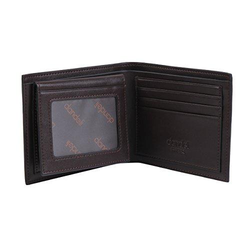 Damara Herren 12x2x10cm Kartenetui Geldschein Geldklammer,Schwarz Braun