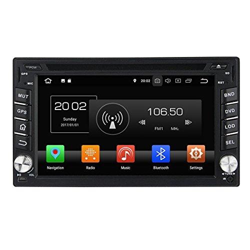 6.2 Zoll Kapazitiver Touchscreen Doppel Din Android 8.0 OS Autoradio für Nissan Frontier 2001 2002 2003 2004 2005 2006 2007 2008 2009 2010 2011, 8 Core 1.5G Cortex A53 CPU 32G Flash und 4G RAM