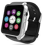 Buddymate X6 Bluetooth Smart Wrist Mobile Watch with Camera,SD/Micro Sim Card & Multi-Language