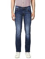 Park Avenue Mens Slim Fit Jeans (8907663038475_PCYB00478-B8_32W x 33L_Dark Blue)