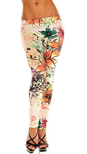 Ostenx Leggings Estampados para Mujeres con Diferetes Dibujos Opcionales tales como Flores y Mariposas Pantalones Elásticos Equipados con Cualquier Ropa (Modelo 1)