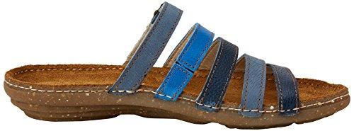 El Naturalista N327, Sandales Bout Ouvert Femme Bleu (Blue Mixed)