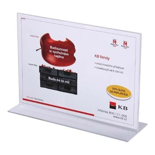 Tischaufsteller A4 T-Ständer Querformat Acryl Aufsteller Werbeaufsteller Tischständer Tischaufsteller A4 -