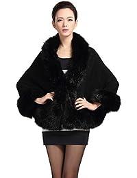 Vovotrade Falda de piel de abrigo chal - mujer